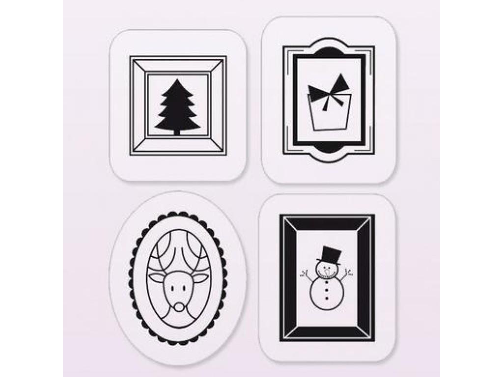 """Akriliniai antspaudukai """"Small Funny Christmas Frames"""""""