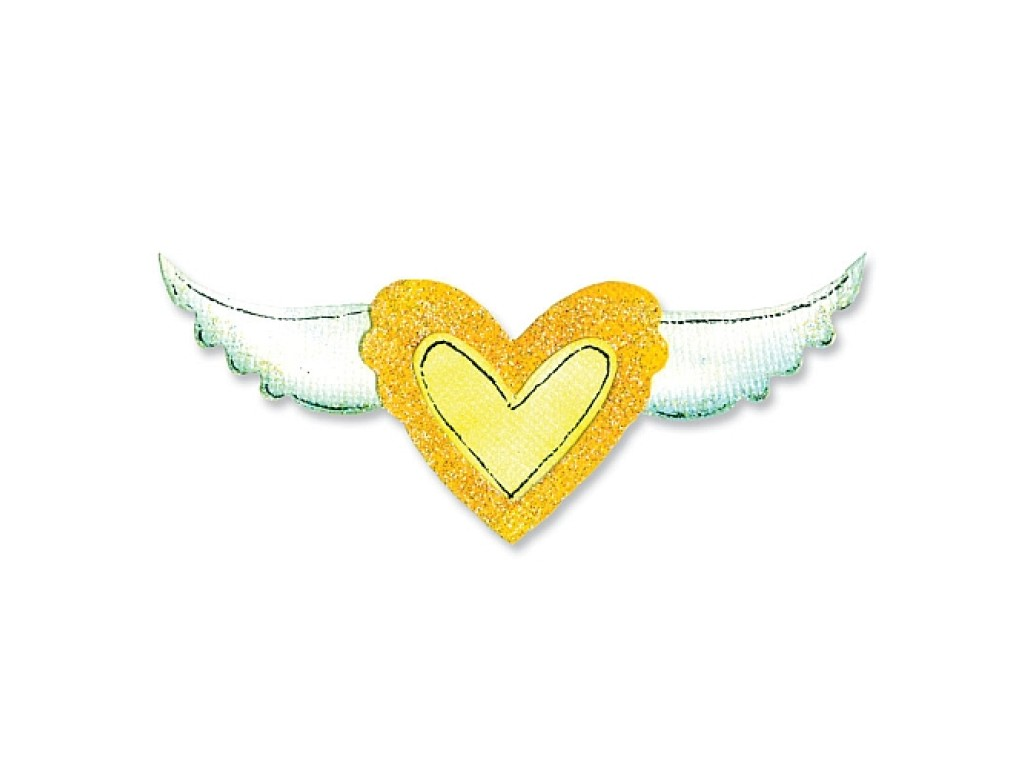 """Kirtimo formelė """"Movers & Shapers Heart and Wing Set"""""""