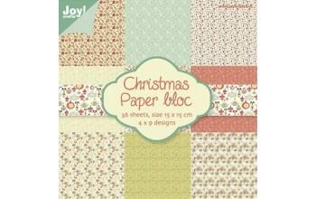 """Popieriaus rinkinys """"Christmas"""" 15x15cm, 36 lapai"""