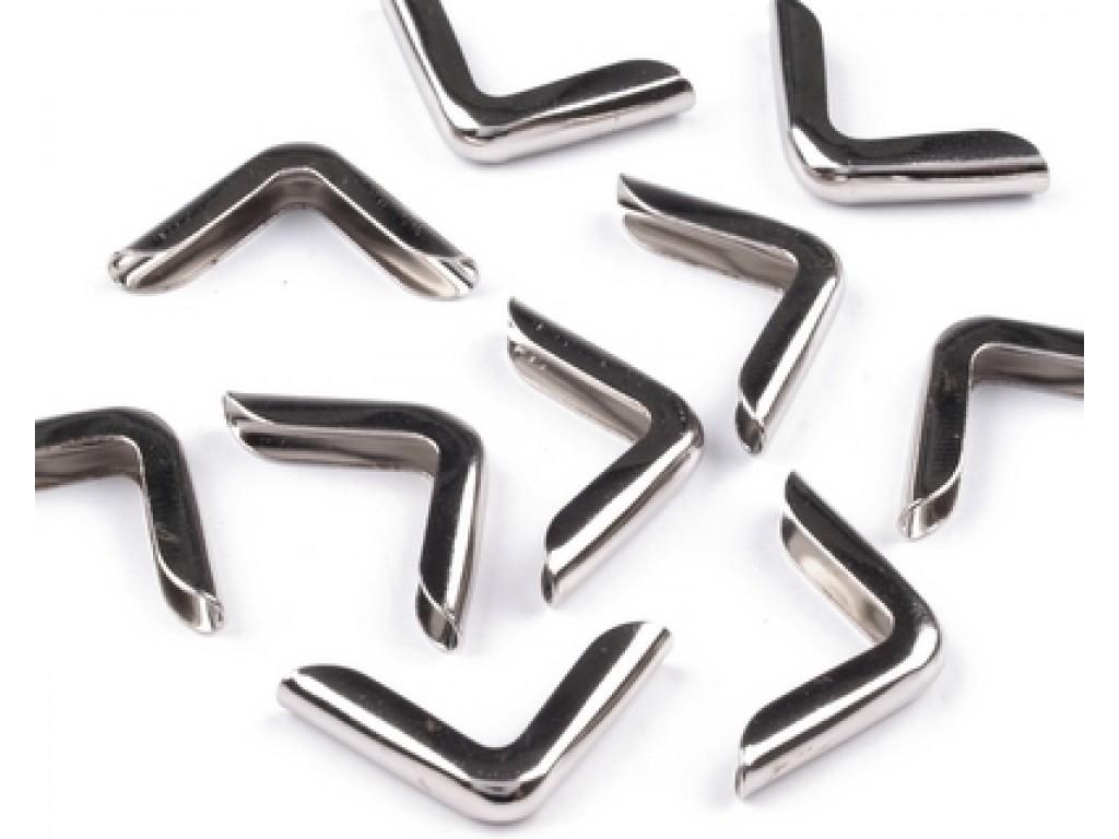 Metalinis kampukas sidabro spalvos 1,4cm