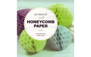 "Sluoksniuotas 3D popierius ""Honeycomb Pastels"", 8 lapai"