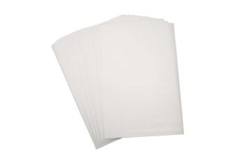 "Susitraukiantis plastikas ""Shrink Plastic White Matt"", 1vnt."