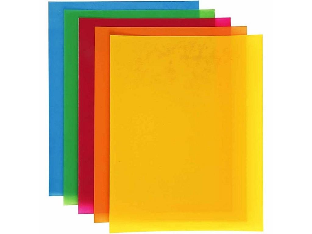 """Susitraukiančio plastiko rinkinys """"Shrink Plastic Neon Colours"""", 5vnt."""