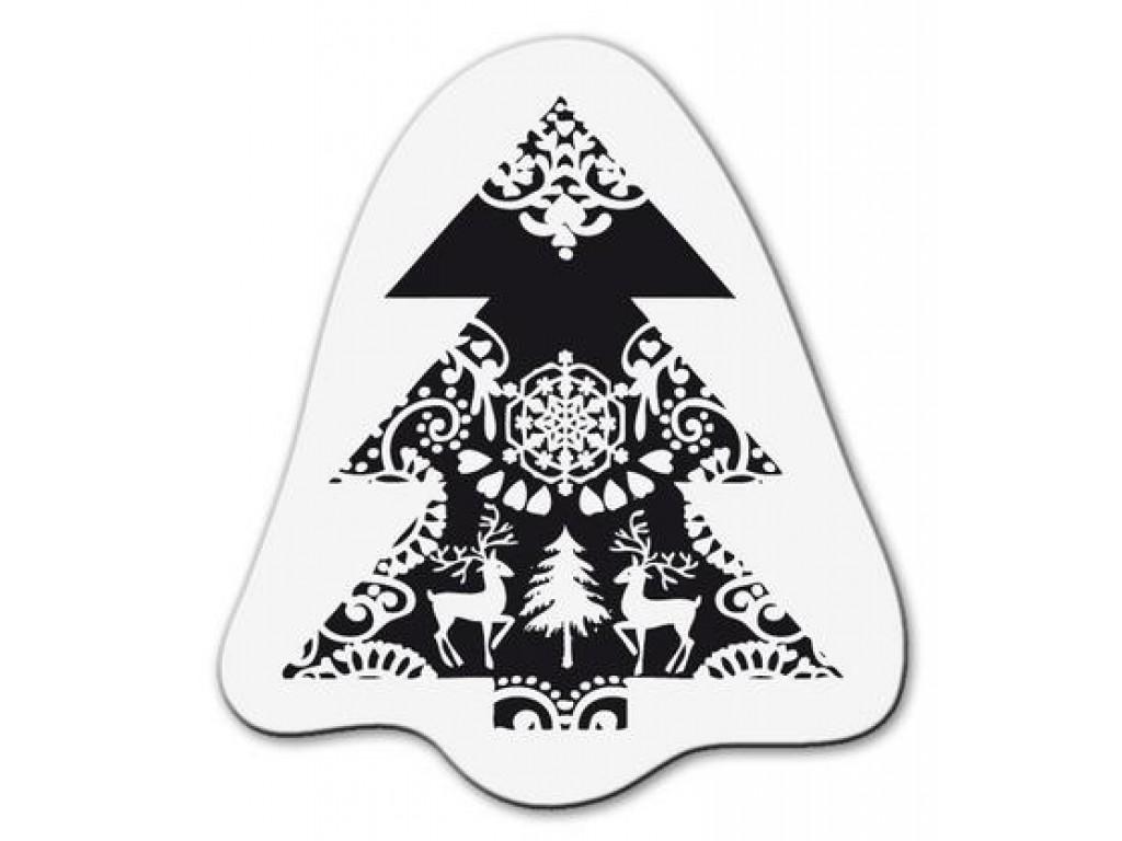 """Akriliniai antspaudukai """"Christmas tree with reindeers"""""""