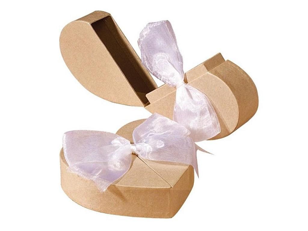 """Kartoninė atsidaranti dėžutė """"Heart with ribbon"""""""