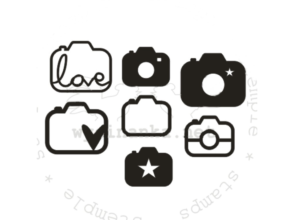 """Akriliniai antspaudukai """"Fotostory-6: fotoaparatų rinkinys"""", 7vnt."""