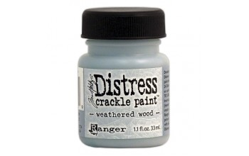 "Skilinėjantys dažai ""Distress Crackle Paint: Weathered Wood"""