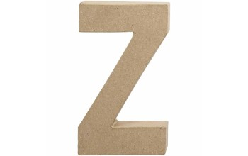 """Tūrinė kartoninė raidė dekoravimui """"Z"""", 20,5cm"""