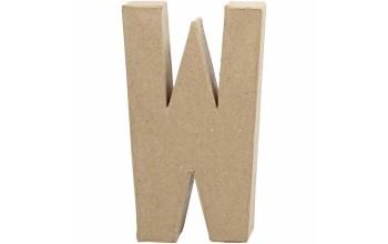 """Tūrinė kartoninė raidė dekoravimui """"W"""", 20,5cm"""