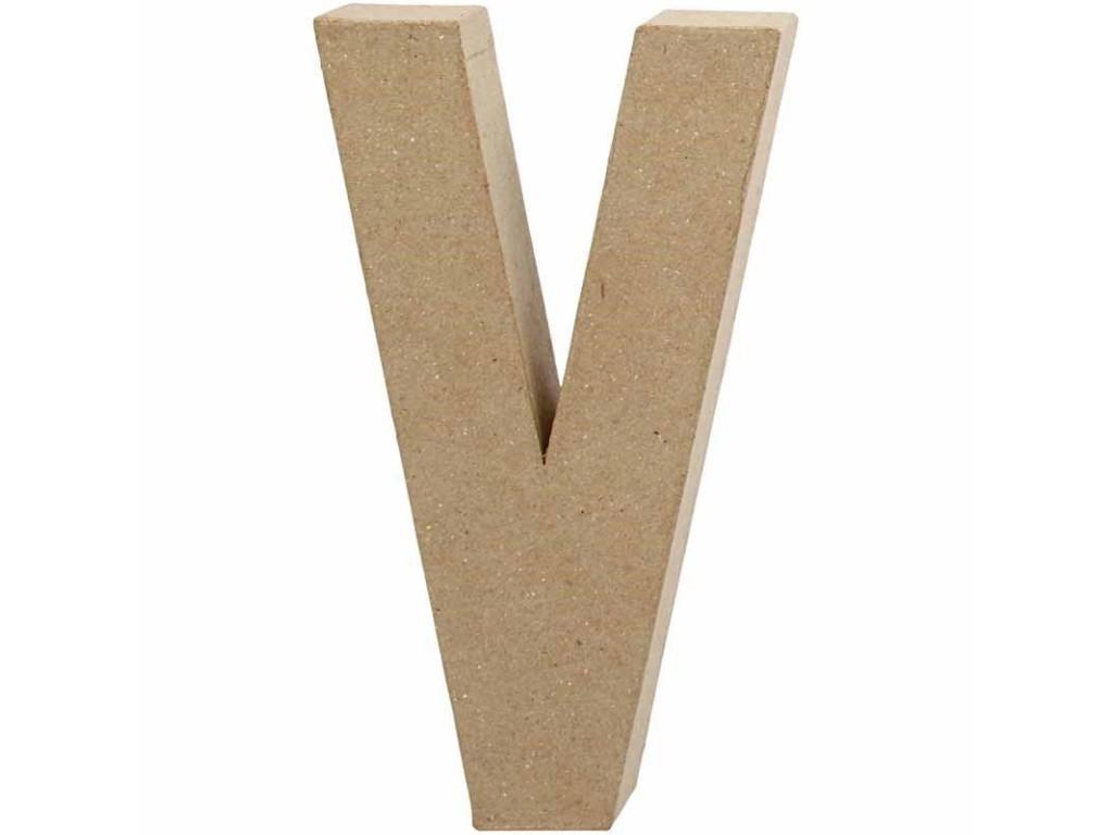 """Tūrinė kartoninė raidė dekoravimui """"V"""", 20,5cm"""