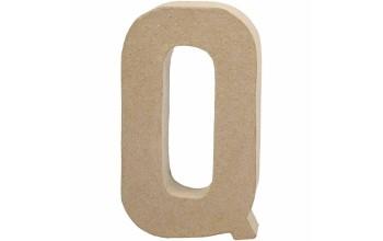 """Tūrinė kartoninė raidė dekoravimui """"Q"""", 20,5cm"""