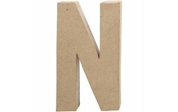 """Tūrinė kartoninė raidė dekoravimui """"N"""", 20,5cm"""