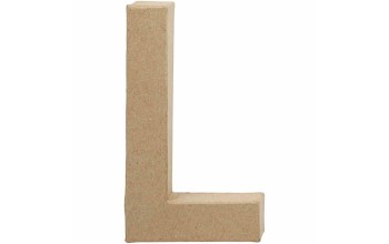 """Tūrinė kartoninė raidė dekoravimui """"L"""", 20,5cm"""