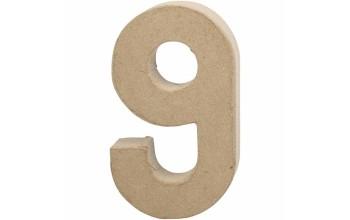 """Tūrinis kartoninis skaičius dekoravimui """"9"""", 20,5cm"""
