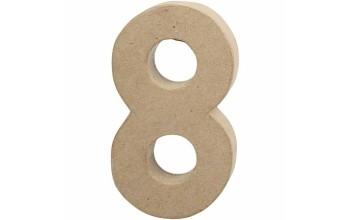 """Tūrinis kartoninis skaičius dekoravimui """"8"""", 20,5cm"""