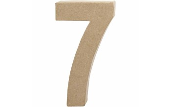 """Tūrinis kartoninis skaičius dekoravimui """"7"""", 20,5cm"""
