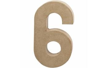 """Tūrinis kartoninis skaičius dekoravimui """"6"""", 20,5cm"""
