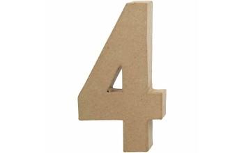 """Tūrinis kartoninis skaičius dekoravimui """"4"""", 20,5cm"""
