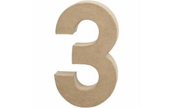 """Tūrinis kartoninis skaičius dekoravimui """"3"""", 20,5cm"""