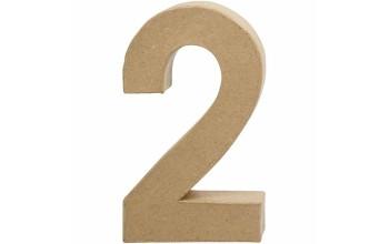 """Tūrinis kartoninis skaičius dekoravimui """"2"""", 20,5cm"""