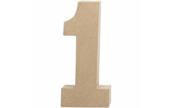 """Tūrinis kartoninis skaičius dekoravimui """"1"""", 20,5cm"""