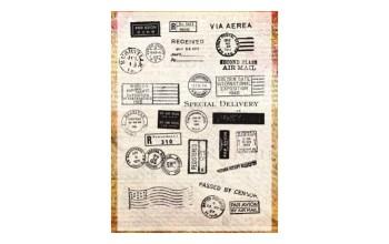 """Akriliniai antspaudukai """"Postcard"""", 26vnt."""