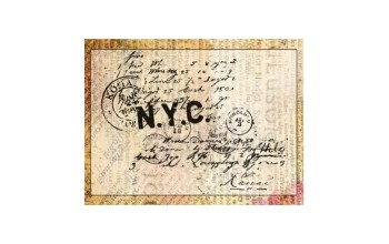 "Akriliniai antspaudukai ""N.Y.C."", 1vnt."