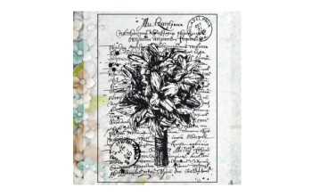 "Akriliniai antspaudukai ""Bouquet"", 1vnt."