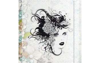 "Akriliniai antspaudukai ""Floral Lady"", 1vnt."