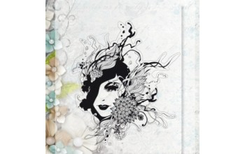 "Akriliniai antspaudukai ""Floral Lady 2"", 1vnt."
