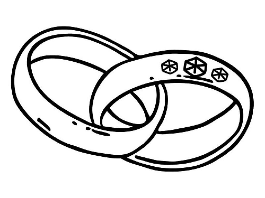 """Guminis antspaudukas """"Large wedding rings"""""""