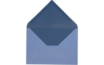 "Vokas ""Envelope Light Blue/Dark Blue"" 11,5x16cm; 10vnt."