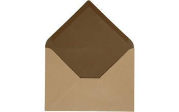 "Vokas ""Envelope Sand/Brown"" 11,5x16cm; 10vnt."
