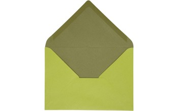 "Vokas ""Envelope Dark Green/Lime Green"" 11,5x16cm; 10vnt."