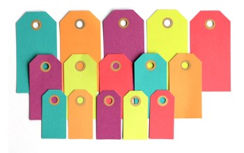 """Popierinės etiketės """"Gift Tags"""", 25vnt."""