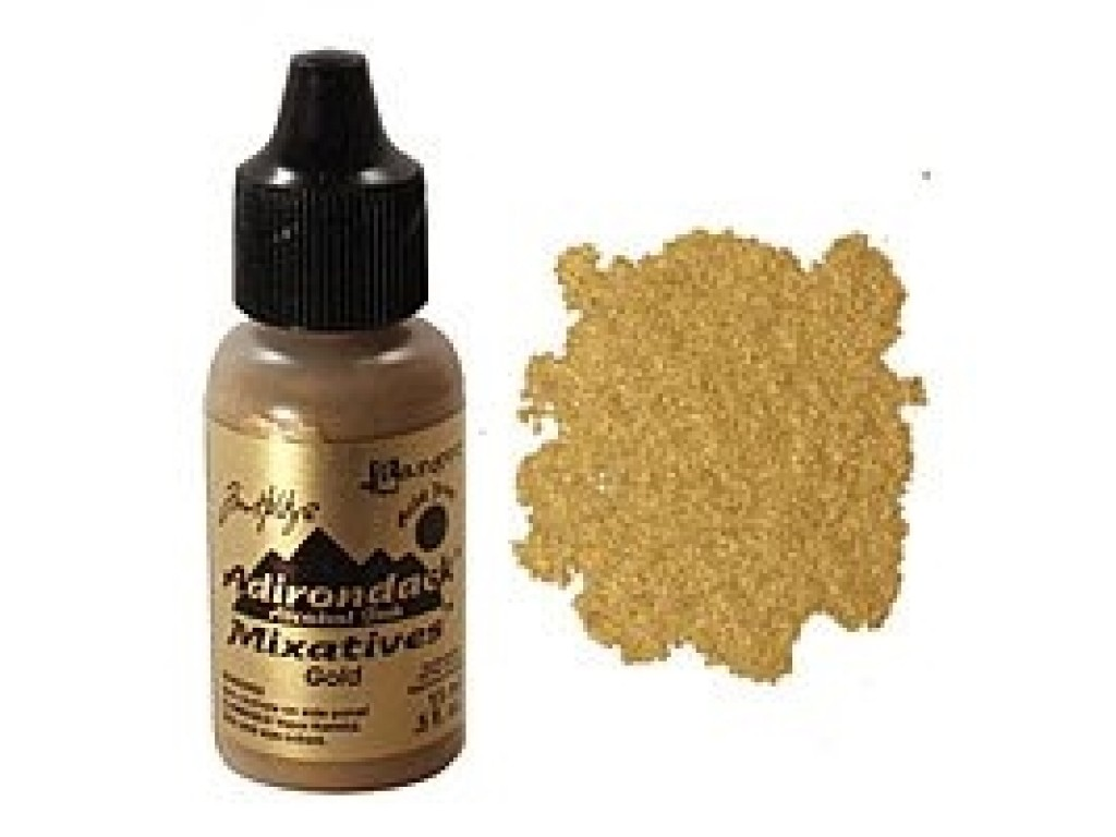 "Alkoholinis rašalas ""Adirondack Alcohol Metallic Mixatives Gold"""