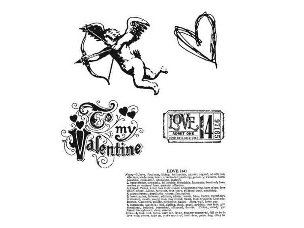 """Guminiai antspaudukai """"Love Struck"""", 5vnt."""