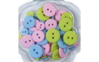"""Sagos """"Buttons pink, blue, green"""", 70vnt."""