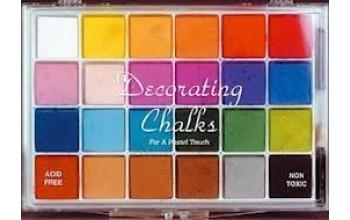 """Kreidiniai dažai """"Chalk 24 Colours"""""""