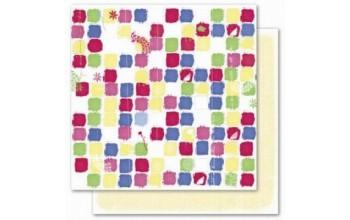 "Popierius ""Deja Views: Cherry - Color Swatch Yellow Dots"""