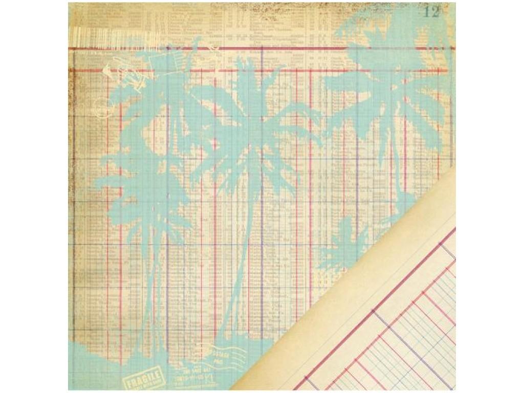 "Popierius ""Making Memories: PANORAMA - Ledger Palm Tree"""