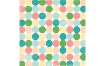 """Popierius """"MakingMemories: Flower Patch - Varnish Large Dot"""""""