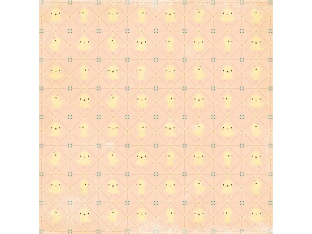 "Popierius ""Making Memories: Flower Patch - Chick"""