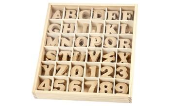 MDF raidės dekoravimui 4cm