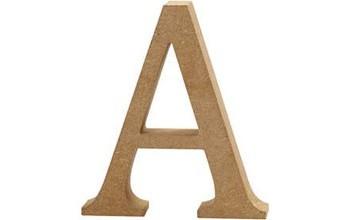 """Tūrinė medinė raidė dekoravimui """"A"""", 13cm"""