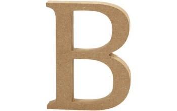 """Tūrinė medinė raidė dekoravimui """"B"""", 13cm"""