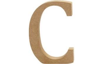 """Tūrinė medinė raidė dekoravimui """"C"""", 13cm"""