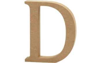 """Tūrinė medinė raidė dekoravimui """"D"""", 13cm"""