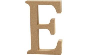 """Tūrinė medinė raidė dekoravimui """"E"""", 13cm"""