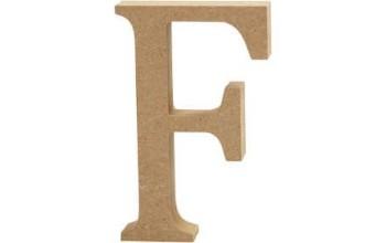 """Tūrinė medinė raidė dekoravimui """"F"""", 13cm"""